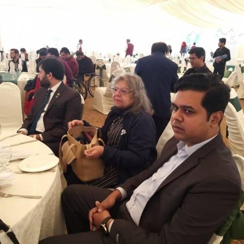 Shirakat at the seminar on International Day of Disabilities at the Parliament House.