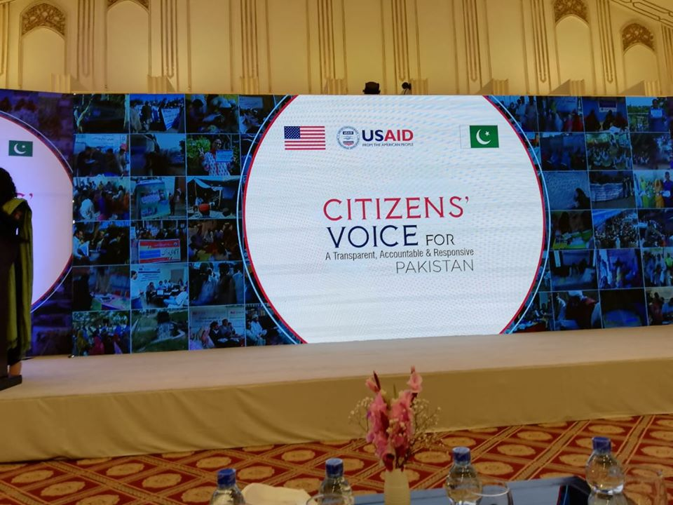 Shirakat at the Marriott Hotel for a Conference on Citizens Voice for Pakistan