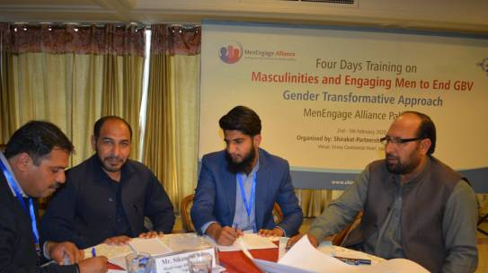 "Training on ""Masculinities and Engaging Men and Boys to End GBV"""