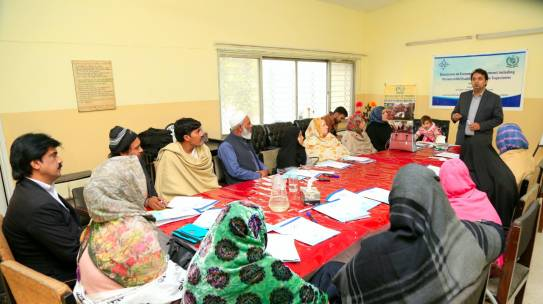 Shirakat organised a capacity building workshop with  Vocational Rehabilitation and Employment of Disabled Persons (VREDP) Islamabad