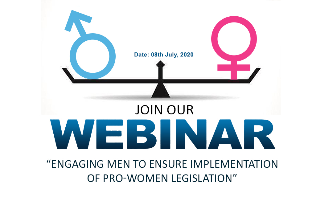 ENGAGING MEN TO ENSURE IMPLEMENTATION OF PRO-WOMEN LEGISLATION
