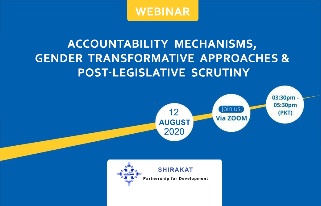 Accountability Mechanisms, Gender Transformative Approaches  &  Post-legislative Scrutiny