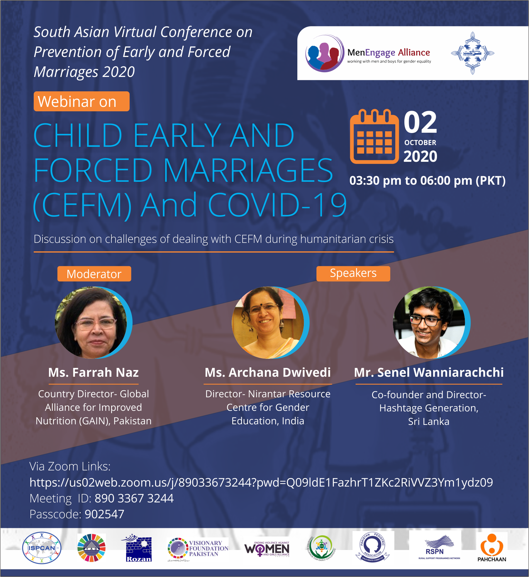 Webinar on Child Early and Forced Marriages (CEFM) and COVID-19